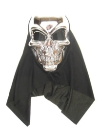 Masker doodshoofd zilver