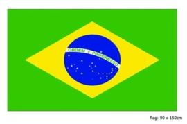 Vlag Brazilie 90x150