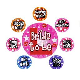 Bride to be set buttons
