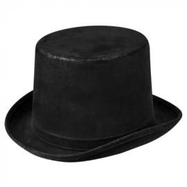 Hoge hoed steamtopper | zwart