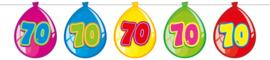Vlaggenlijn ballonnen 70 jaar