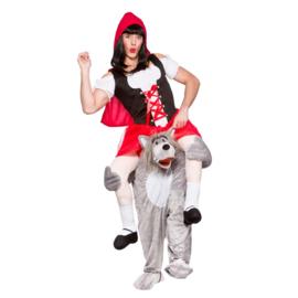 Door wolf gedragen kostuum
