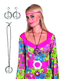 Hippie peace set dames