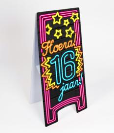 Waarschuwings bord Neon 16 jaar