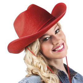 Cowboy hoed rood