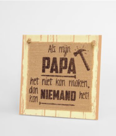 Wooden sign - Papa |