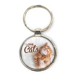 Luxe Sleutelhanger - I love Cats