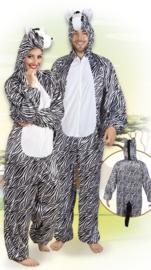 Plushe zebra kostuum