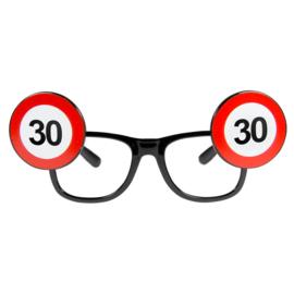 Bril 30 jaar verkeersbord