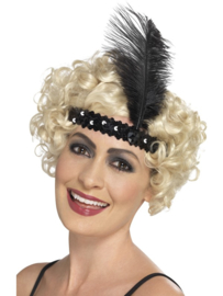 Charleston diamond hoofdband zwart