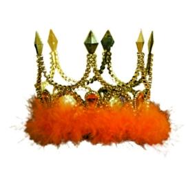 Kroontje oranje bont