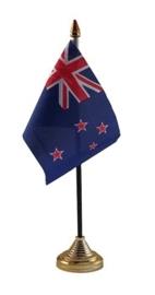 Tafelvlag Nieuw Zeeland zwart