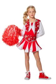 Cheerleader jurkje luxe rood