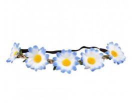 Hoofdband bloemen blauw