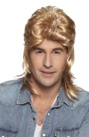 Pruik matje blond Jimmy