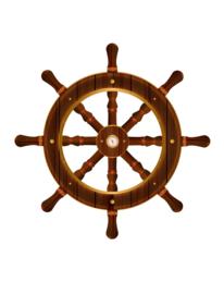 Wanddeco stuurwiel navy