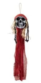 Skelet hoofd piraat hangdeco 90cm