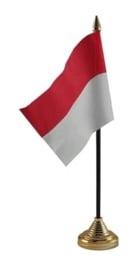 Tafelvlag Indonesie zwart