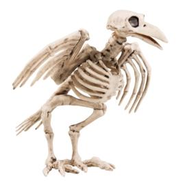 Kraai skelet deco klein 18cm