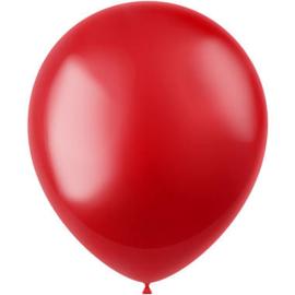 Ballonnen Radiant Fiery Red Metallic 33cm - 50 stuks