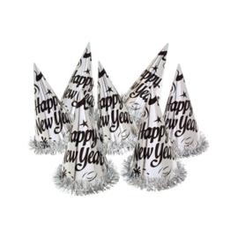 Hoed 'Happy New Year' zilver   