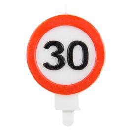 Kaarsjes 30 jaar verkeersbord