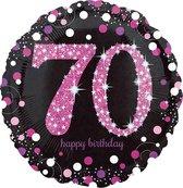 Folieballon HBD sparkling pink 70 (45cm)