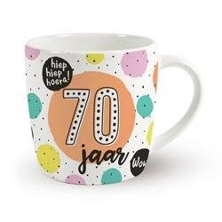 Verjaardags mok - 70 jaar | koffie beker