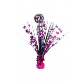 Tafel deco sparkling pink 50