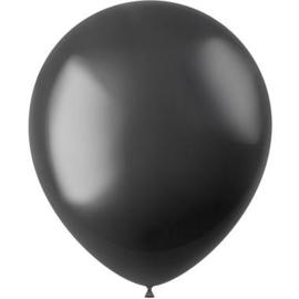 Ballonnen Radiant Onyx Black Metallic 33cm - 50 stuks
