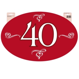 Deurbord 40 jaar getrouwd