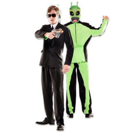 Kostuum double fun black suit alien