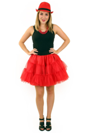 Petticoat 3 laags rood