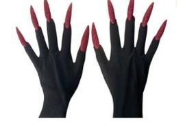 Handschoenen met glitter nagels