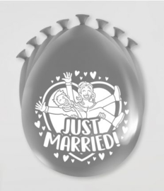 Party Ballonnen - Just married | 8 stuks