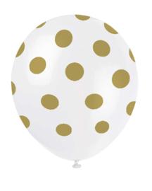 Ballonnen dots goud wit