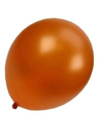 Kwaliteitsballon metallic oranje 100 stuks