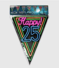 Vlaggenlijn neon 10 meter | 25 jaar