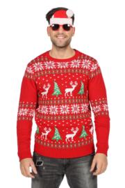 Kerst trui rood klassiek