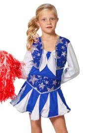 Cheerleader jurkje luxe blauw