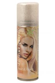 Glitterspray goud | voor lichaam en haar | 100 ml