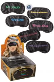 Slaap oogmasker met spreuken 6 ass