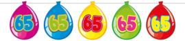 Vlaggenlijn ballonnen 65 jaar
