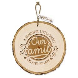 Boomschijf decoratie - Our Family  