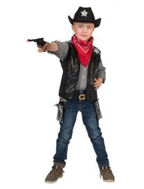 Cowboy vest deluxe kids
