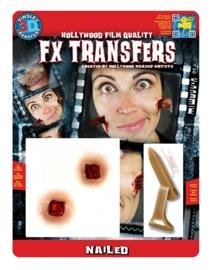 Spijker door gezicht 3D FX transfers