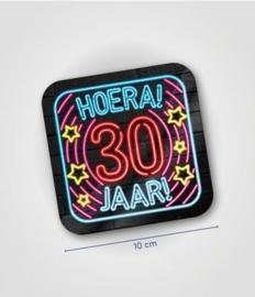 Neon onderzetters 30 jaar