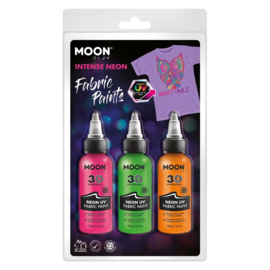Textielverf 3D  moonglow 3x30 ml | Neon / UV