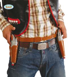 Cowboy holster dubbel bruin
