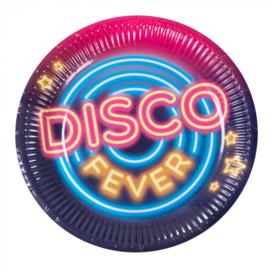 Set 6 Papieren bordjes 'Disco fever'